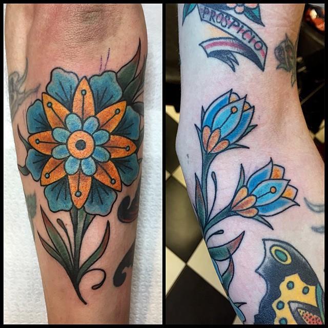 Thnxs Marco! #tattoo #tattoos #oldlines #bright_and_bold #cleansolid #flowertattoo #oldschool #oldschooltattoo #mandala #magictattoostudio #utrecht #magictattoo
