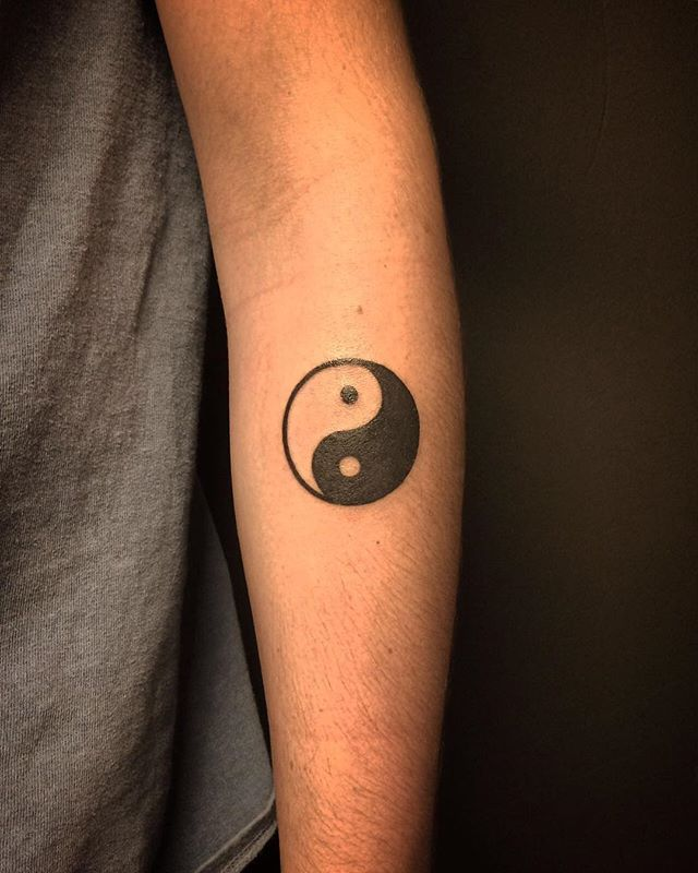 Eerste Tattoo Yin Yang Voor Olaf Thanks Door At Aj89tattoo